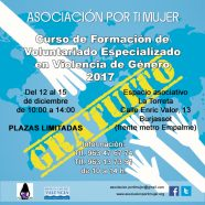 Segunda edición del 'Curso de Voluntariado Especializado en Violencia de Género'