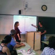 Nuestros practicantes impartiendo igualdad y coeducación