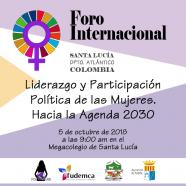 Foro Internacional 'Liderazgo y Participación Política de las Mujeres. Hacia la Agenda 2030'