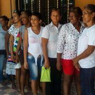 100 mujeres inscritas en nuestro proyecto de cooperación internacional en Santa Lucía (Colombia)
