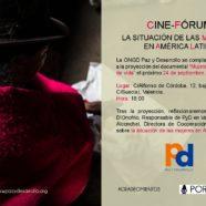 Cinefórum sobre la situación de las mujeres en América Latina