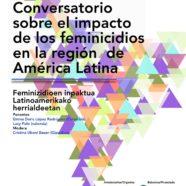 Por Ti Mujer participará en el Conversatorio sobre impacto de los feminicidios en Latinoamérica, en San Sebastián