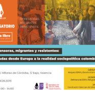 Conversatorio 'Defensoras, migrantes y resistentes: miradas desde Europa a la realidad socio-política colombiana'