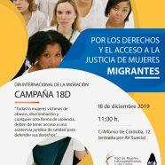 Presentamos en Valencia la campaña 'Por los derechos y el acceso a la justicia de mujeres migrantes'
