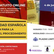 Taller online gratuito sobre nacionalidad española: información para la solicitud y el procedimiento