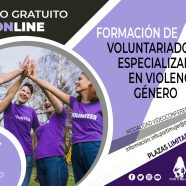 Quinta edición del curso 'Formación de voluntariado especializado en violencia de género'