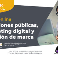 Taller 'Relaciones públicas, marketing digital y creación de marca'