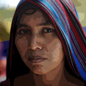 """GUA01. CIUDAD DE GUATEMALA (GUATEMALA), 07/07/2013.-. Mujeres del grupo étnico ixil y mujeres de organizaciones de derechos humanos recordaron hoy, domingo 7 de julio de 2013, en Ciudad de Guatemala, a las mujeres ixiles víctimas de violencia sexual por parte del ejército guatemalteco durante el conflicto armado que duró 36 años en ese país centroamericano. Las féminas afirmaron que si hubo genocidio y violencia sexual, y exigieron justicia y """"ni olvido ni silencio"""". EFE/Sandra Sebastián"""