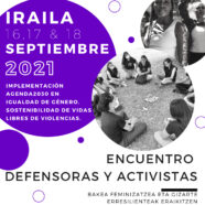 Por Ti Mujer en el encuentro 'Defensoras y activistas' en San Sebastián